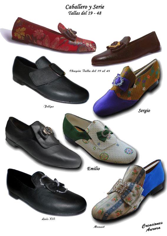 zapatos hombre siglo xviii